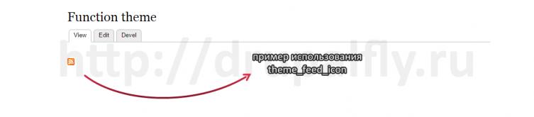 Пример использования theme_feed_icon